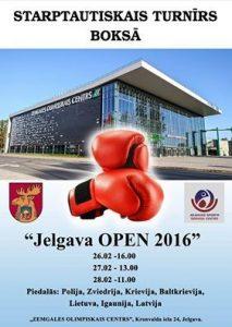 "Bokss ""Jelgava open 2016"""