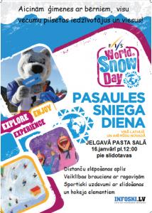 Pasaules sniega diena Jelgavā